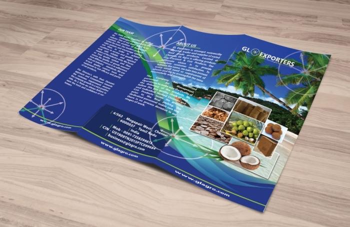 Tri fold brochure front side